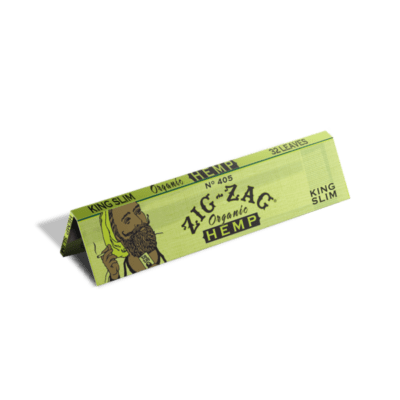 Unbleached and slow burning organic hemp rolling papers