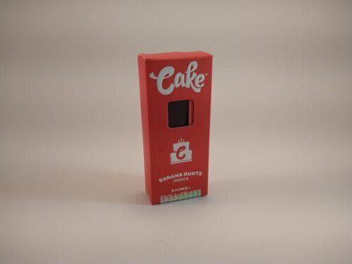 Cake Banana Runtz Indica Delta-8 Disposable Vape.