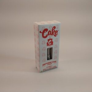 Cake Birthday Cake Indica High Potency Delta-8 Vape Cartridge.