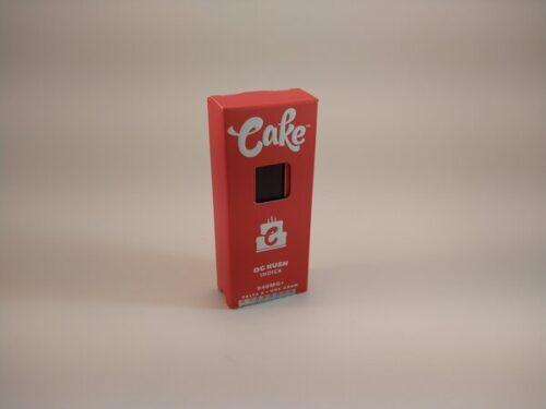 Cake OG Kush Indica High Potency Delta-8 Disposable Vape.