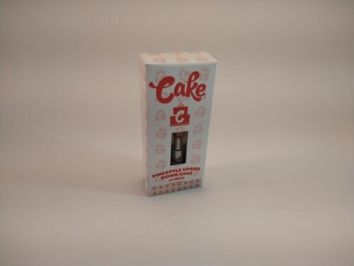 Cake Pineapple Upside Down Cake Hybrid High Potency Delta-8 Vape Cartridge.