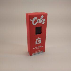 Cake Sour Tangie Sativa High Potency Delta-8 Disposable Vape.