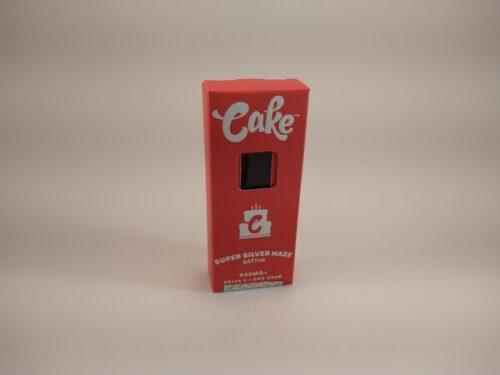 Cake Super Silver Haze Sativa High Potency Delta-8 Disposable Vape.