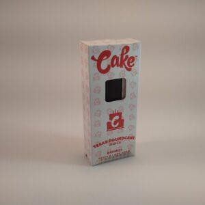 Cake Texas Poundcake Indica High Potency Delta-8 Disposable Vape.