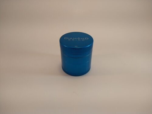 Diamond Grind 50mm 4pc colored aluminum grinder with a screen