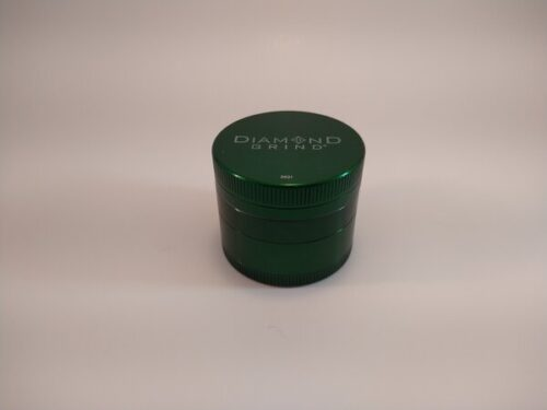 Diamond Grind 63mm 4pc colored aluminum grinder with a screen