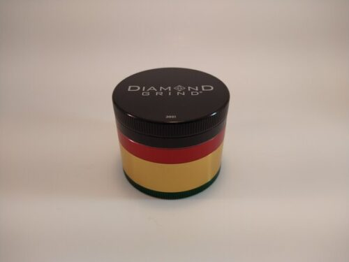 Diamond Grind 75mm 4pc colored aluminum grinder with a screen