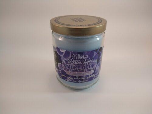 Blue Serenity Smoke Odor Exterminator Candle