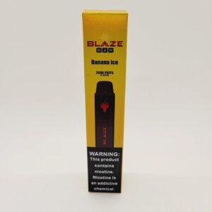 Blaze Bar Banana Ice Disposable Vape 2600 Puffs
