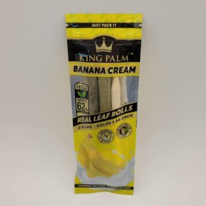 King Palm Slim Banana Cream 2 Pack