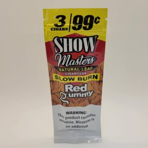 Show Masters Red Gummy Natural Leaf Cigarillos