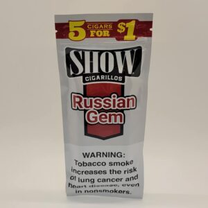 Show Russian Gem Cigarillos 5 Pack for $1