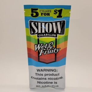 Show Wet & Fruity Cigarillos 5 pack for $1.