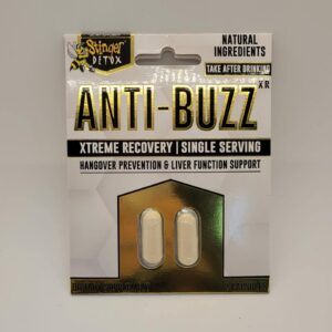 Stinger Anti-Buzz Hangover Prevention And Recovery Capsules 2 Pack.