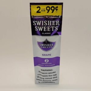 Swisher Sweets Grape Cigarillos 2 pack for 99 cents.