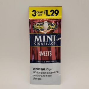 White Owl Mini Sweets Cigarillos 3 pack for $1.29